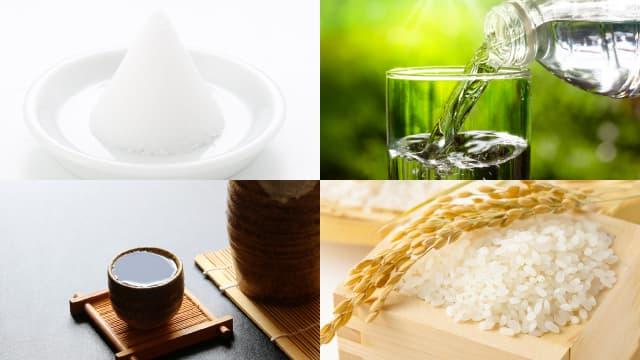 四種の神具(塩・水・酒・米)